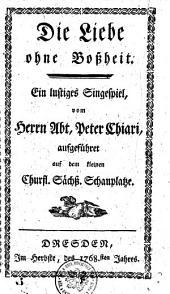 L'amore senza malizia. Dramma giocoso per musica del --- (etc.) (La musica e del Bernardino Ottani).