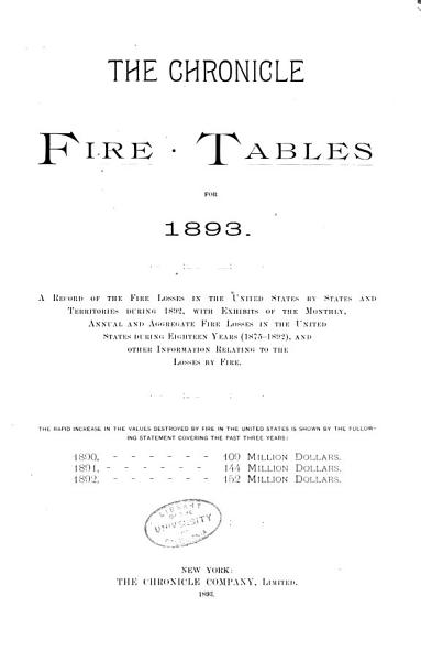The Chronicle Fire Tables PDF