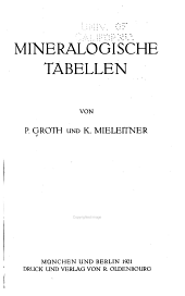 Mineralogische Tabellen