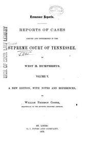 Reports of Cases Argued and Determined in the Supreme Court of Tennessee: Volume 24