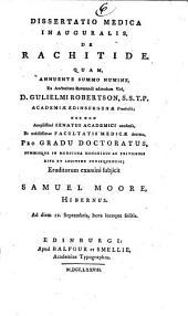 Dissertatio medica inauguralis De rachitide