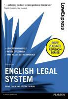 Law Express  English Legal System 6th edition PDF eBook PDF