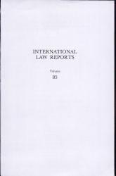 International Law Reports  Volume 85 PDF