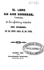 El libro de los deberes o Estudio de los afectos y virtudes del hombre