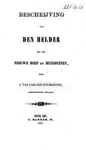 Beschrijving van Den Helder met het Nieuwe Diep en Huisduinen