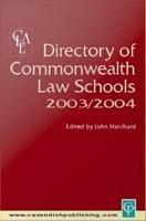 Directory of Commonwealth Law Schools 2003 2004 PDF