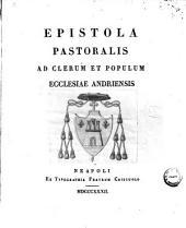 Epistola pastoralis ad clerum et populum ecclesiae Andriensis ?Joseph Cosenza?