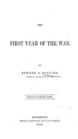 The First Year of the War PDF
