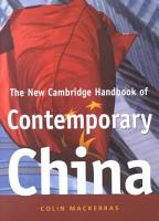The New Cambridge Handbook of Contemporary China PDF