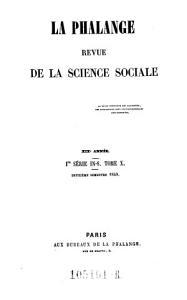 La Phalange Revue De La Science Sociale PDF