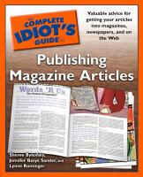 The Complete Idiot s Guide to Publishing Magazine Articles PDF
