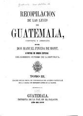 Recopilacion de las leyes de Guatemala: Volumen 3