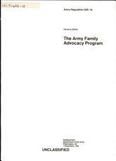 The Army Family Advocacy Program PDF