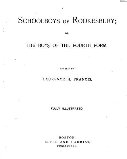 Schoolboys of Rookesbury PDF