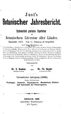 Just s Botanischer Jahresbericht PDF