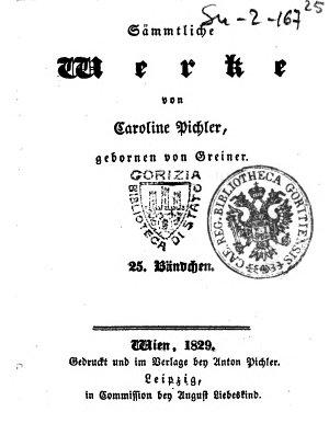 Prosaische Aufsatze  Von Caroline Pichler  gebornen von Greiner  Erster   zweyter  Theil PDF