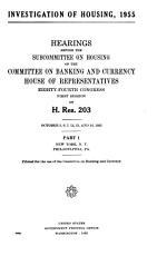 Investigation of Housing  1955  56   PDF