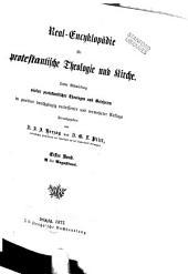 Real-encyklopädie für protestantische theologie und kirche: Band 1