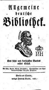 Allgemeine deutsche Bibliothek: Band 56