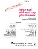Indian and Wild West Toys You Can Make