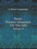 Neuer Theater Almanach F r Das Jahr PDF