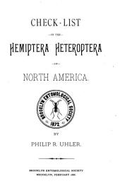 Check-list of the Hemiptera Heteroptera of North America