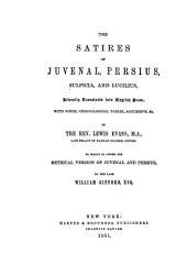 The Satires of Juvenal, Persius, Sulpicia, and Lucilius