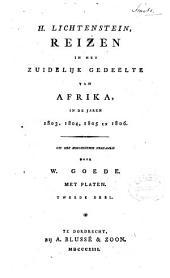 Reizen in het zuidelyk gedeelte van Afrika, in de jaren 1803, 1804, 1805 en 1806: Volume 2