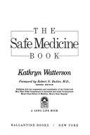 Download The Safe Medicine Book Book