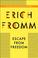 Escape from Freedom PDF