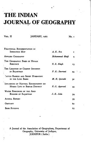 Indian Journal of Geography