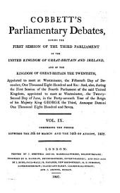 Parliamentary Debates: Official Report : ... Session of the ... Parliament of the United Kingdom of Great Britain and Ireland, Volume 9