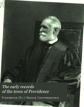 The Early Records of the Town of Providence: Volume 18