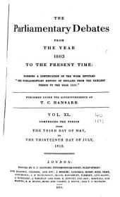 Parliamentary Debates: Official Report : ... Session of the ... Parliament of the United Kingdom of Great Britain and Ireland, Volume 40