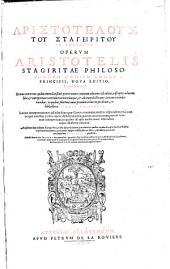 Ta sōzomena: Graecè & Latinè : Graecus contextus quàm emendatißimè praeter omnes omnium editiones est editus, adscriptis ad oram libri & interpretum veterum recentiorúmque, & aliorum doctorum virorum emendationibus: in quibus plurimae nunc primùm in lucem prodeunt, ex bibliotheca Isacii Casauboni. Lastinae interpretationes adiectae sunt ... ; ... insuper addita sunt ex libris Aristotelis qui hodie non supersunt Fragmenta quaedam, Τόμος 1