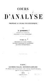 Cours d'analyse professé à l'École polytechnique: Volume2