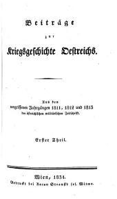 Oestreichische militärische zeitschrift: 1811-13, Band 1