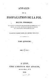 Annales de la propagation de la foi: recueil périodique de l'Association de la Propagation de la Foi, Volume15