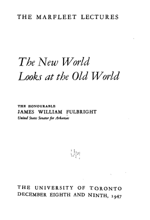 The New World Looks at the Old World