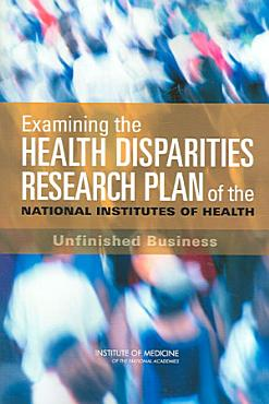 Examining the Health Disparities Research Plan of the National Institutes of Health PDF