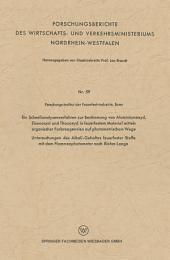 Ein Schnellanalysenverfahren zur Bestimmung von Aluminiumoxyd, Eisenoxyd und Titanoxyd in feuerfestem Material mittels organischer Farbreagenzien auf photometrischem Wege: Untersuchungen des Alkali-Gehaltes feuerfester Stoffe mit dem Flammenphotometer nach Riehm-Lange