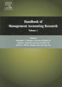 Handbooks of Management Accounting Research, Two-Volume Set