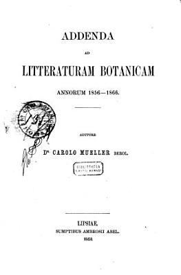 Annales botanices systematicae PDF