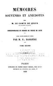 Mémoires, souvenirs et anecdotes: Volume20