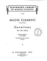 Sonatinas for the piano  op  36  37  38 PDF