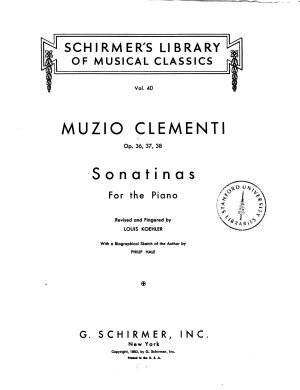 Sonatinas for the piano  op  36  37  38
