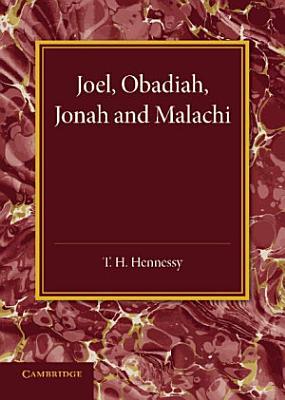 Joel  Obadiah  Jonah and Malachi PDF