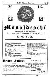 Monaldeschi: Trauerspiel in drei Aufzügen