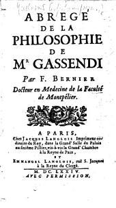 Abrégé de la philosophie de Mr Gassendi