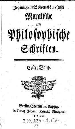 Moralische und philosophische Schriften PDF